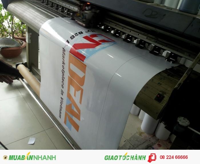 In decal sữa khổ lớn dán logo xe tải, logo hãng vận tải | In nhanh decal sữa mực d...