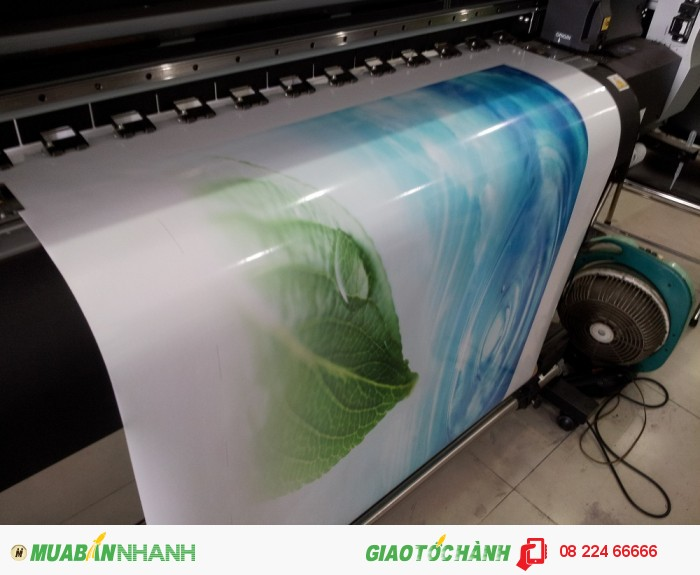 In decal sữa khổ lớn trên máy Mimaki Nhật | Decal sữa với đặc điểm màu nền là trắng đục, hình in ấn sáng, độ dày chất liệu cao, chất liệu có độ dai hàng đầu, keo bám chắc; đồng thời được in ấn với mực dầu cho thời gian bay màu lâu nhất, sử dụng được trong thời gian dài | Thích hợp cho nhu cầu in ấn quảng cáo sử dụng thời gian dài, bền