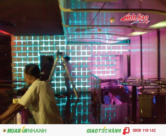 Công ty Ánh Sao Trẻ nhận thi công và lắp đặt các loại đèn Led chất lượng gia rẻ cho các tòa nhà, khách sạn, quán bar...