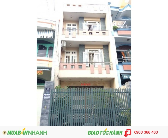 Bán nhà 4 tỷ, 4x20m, Hẻm 10m Lũy Bán Bích, P.Phú Thạnh, Q.Tân Phú