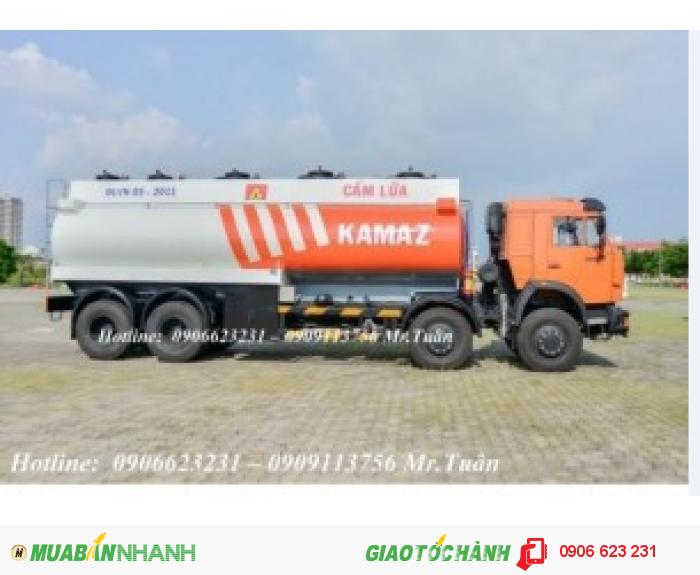 Xe trở dầu điều / Xe bồn dầu điều/ Xe xăng dầu Kamaz 3 chân & 4 chân / Xe bồn Kamaz