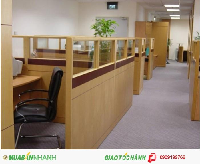 Công ty Ánh Sao Trẻ nhận thiết kế về thi công các loại vách ngăn văn phòng bằng gỗ, đem đến không gian làm việc mới mẻ và đạt chất lượng.