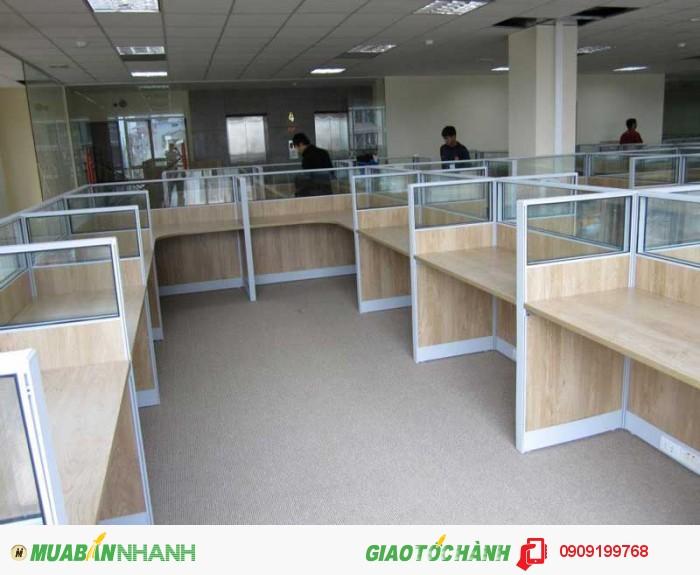 Thiết kế Vách ngăn văn phòng bằng gỗ