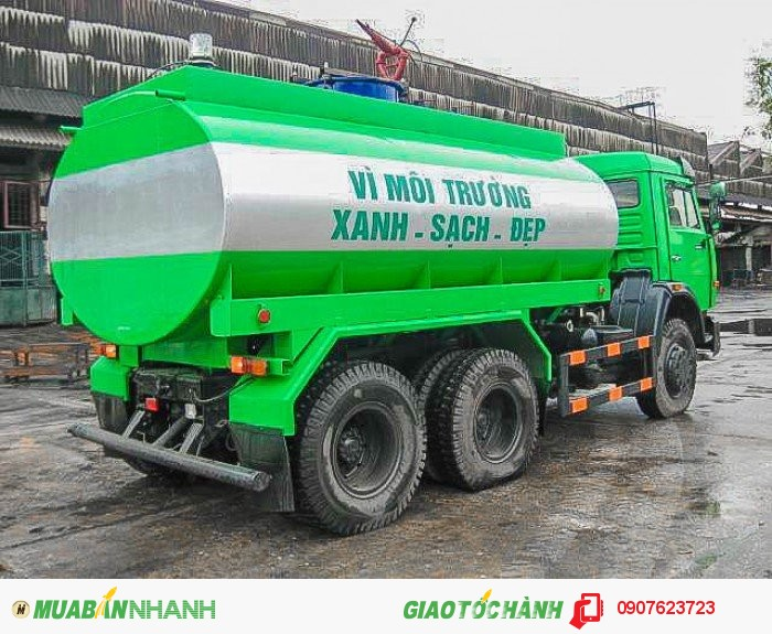 Xe Kamaz tưới nước - cứu hỏa 12.8m3