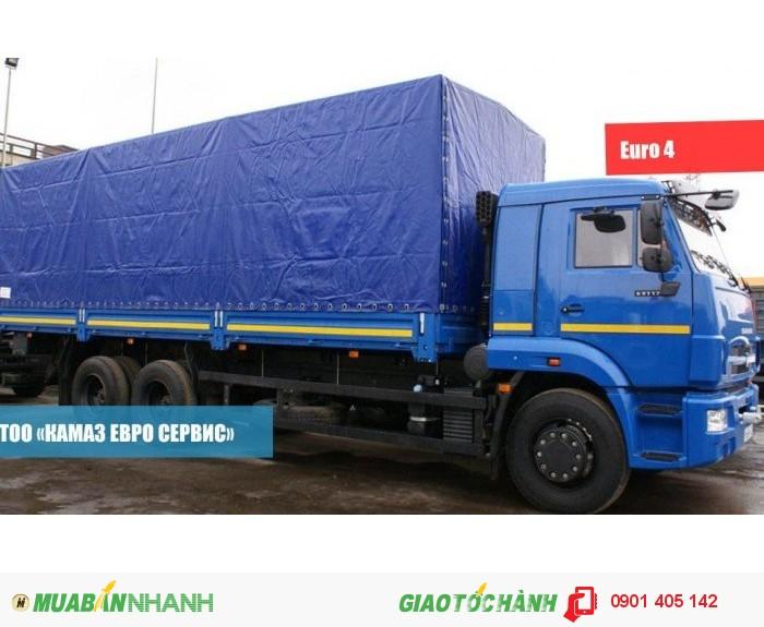 Xe kamaz 65117 ( 340ps) 15 tấn 3 chân 2cầu mui bạt nhập khẩu nguyên chiếc