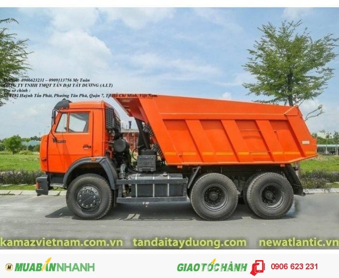 Xe ben Kamaz 65115 (6x4), Bán xe ben 15 tấn Kamaz mới tại Bình dương, Bình Phước, Tây Ninh