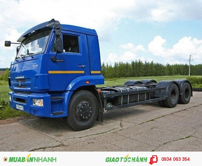 Xe Tải Kamaz  65117- 3 chân 2 cầu thật  6x4 tải trọng 15 tấn thùng 7.8 m mới 100% giá rẻ