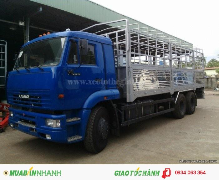 Xe Tải Kamaz  65117- 3 chân 2 cầu thật  6x4 tải trọng 15 tấn thùng 7.8 m mới 100% giá rẻ 1