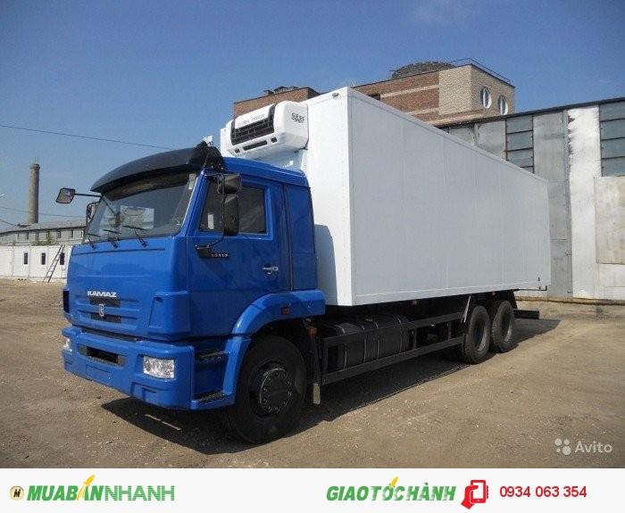 Xe Tải Kamaz  65117- 3 chân 2 cầu thật  6x4 tải trọng 15 tấn thùng 7.8 m mới 100% giá rẻ 2