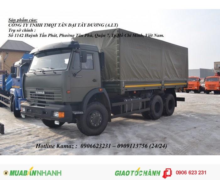 Xe Kamaz 53229 thùng/ Kamaz thùng 3 chân 6m3 & 7m / Bán xe Kamaz 3 chân tại Bình Phước 0