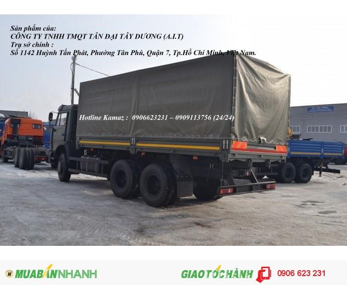 Xe Kamaz 53229 thùng/ Kamaz thùng 3 chân 6m3 & 7m / Bán xe Kamaz 3 chân tại Bình Phước 2