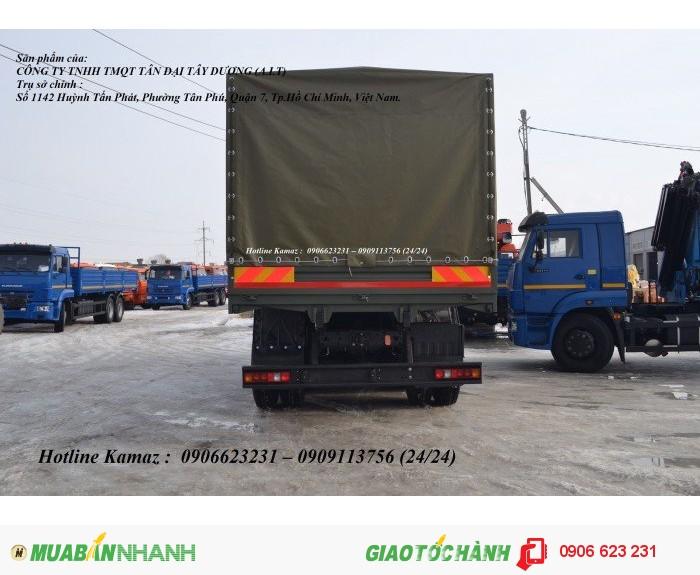 Xe Kamaz 53229 thùng/ Kamaz thùng 3 chân 6m3 & 7m / Bán xe Kamaz 3 chân tại Bình Phước 3