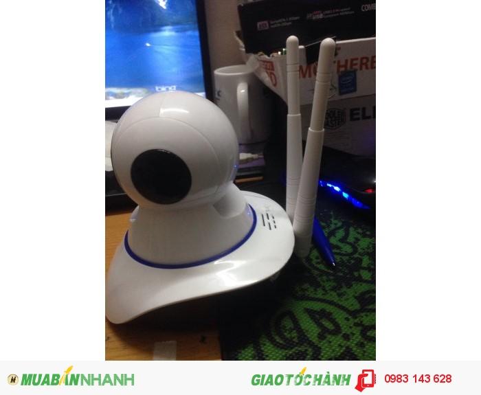 Mắt camera IP 2 Râu Wifi