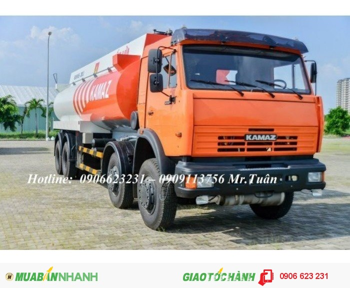 Xe bồn Kamaz 23m3 | Bán xe bồn xăng dầu Kamaz 23m3 | Xe xăng dầu Kamaz 23m3 (Bồn sắt) 1