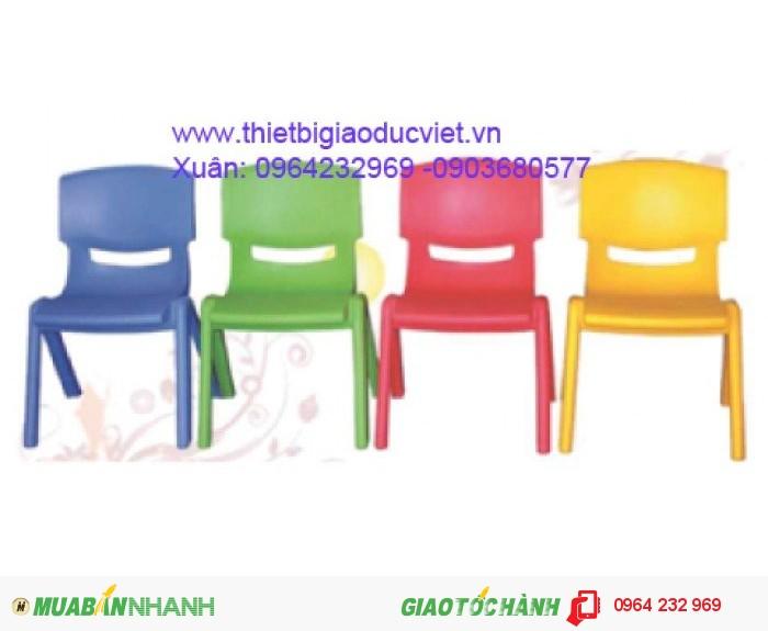 Ghế nhựa đúc cao 26cm rộng 32cm, có 4 màu4