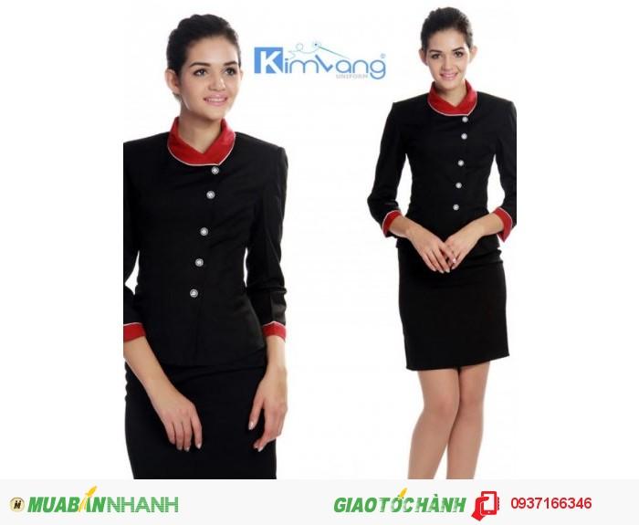 Đồng phục lễ tân khách sạn đẹp, giá rẻ - Công ty May Kim Vàng1