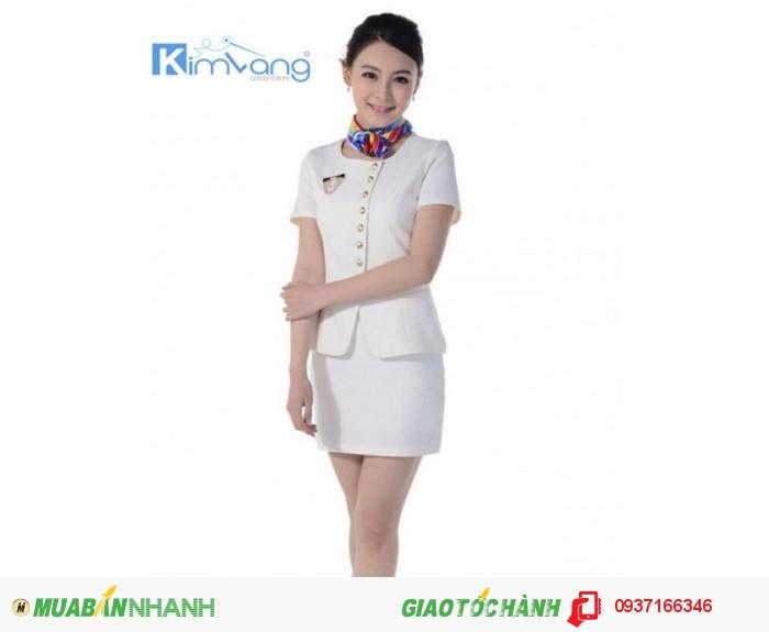 Đồng phục lễ tân khách sạn đẹp, giá rẻ - Công ty May Kim Vàng2