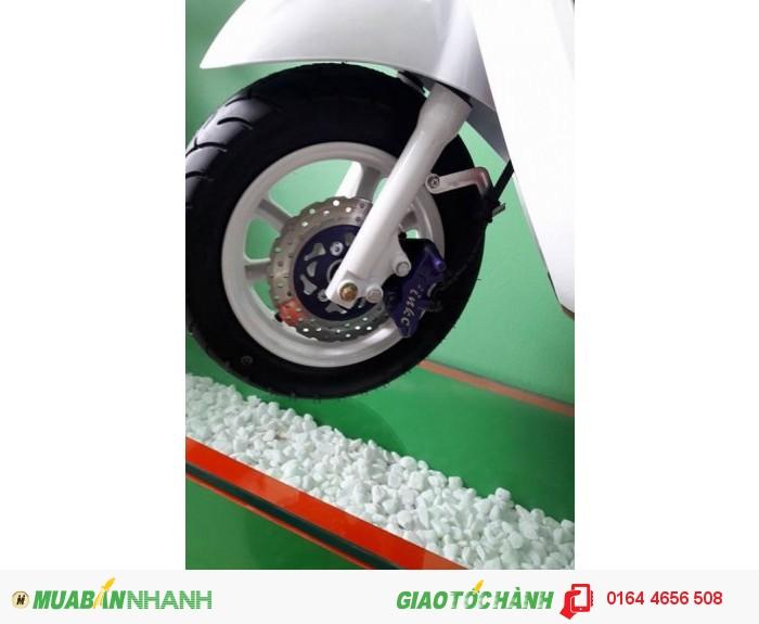 Bán trả góp xe máy điện Nioshima kiểu dáng Vespa - LX màu trắng giá rẻ nhất Hà Nội 4