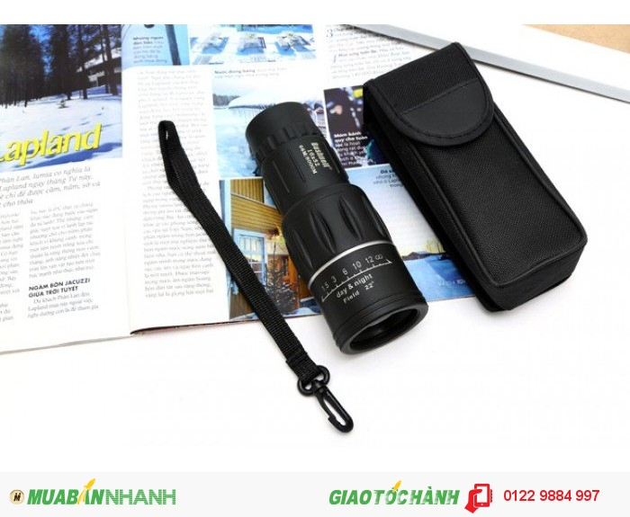 Bao gồm: 1 ống nhòm bushnell có dây treo, 1 túi đựng - Chất liệu: nhựa - Màu sắc: đen - Kích thước: 5.5 x15xm - Kích thước hộp: 6.5 x6.5 x17cm - Độ phóng đại: 16x