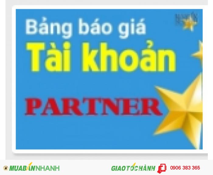 Tin hot! Tài khoản Partner đã chính thức có mặt trên MuaBanNhanh.com.!