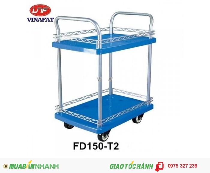 Kích thước : 900 x 600 x 860 mm  Đường kính bánh xe : 125 mm Trọng lượng xe : 27.8kg  Tải trọng tối đa : 300kg4