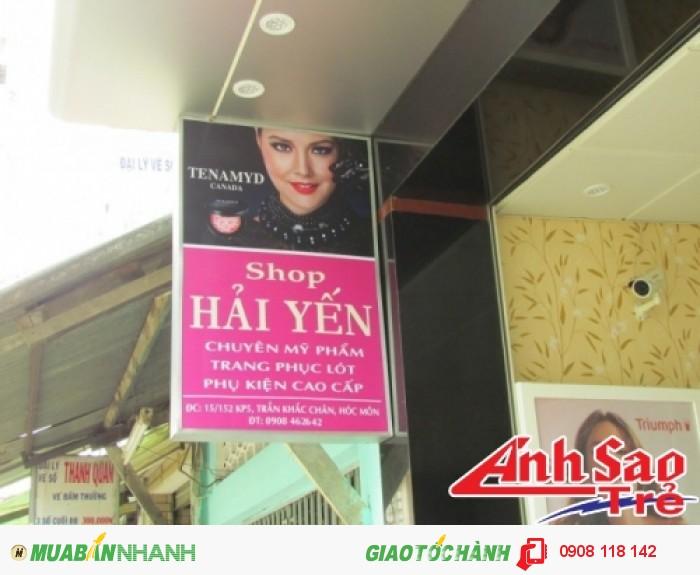 Một hộp đèn hiflex quảng cáo do Ánh Sao Trẻ thiết kế theo yêu cầu khách hàng.
