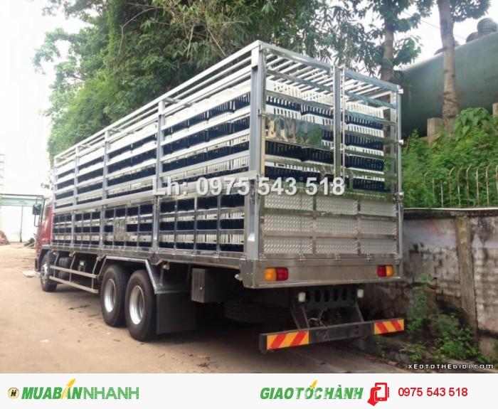 Xe tải Daewoo 3 chân Thùng chở Gia Cầm 14 tấn