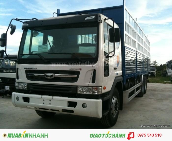 Xe tải Daewoo K9KEF 6x4 thùng mui bạt 14 tấn 4