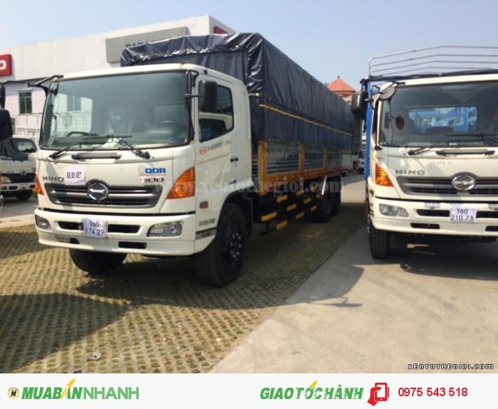 Xe tải Hino 3 chân FL8JTSA thùng mui bạt 16 Tấn 0