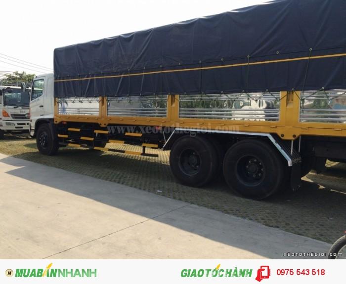 Xe tải Hino 3 chân FL8JTSA thùng mui bạt 16 Tấn 4