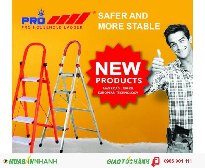 Thang nhôm Pro ra mắt sản phẩm thang nhôm tay vịn inox cao cấp0