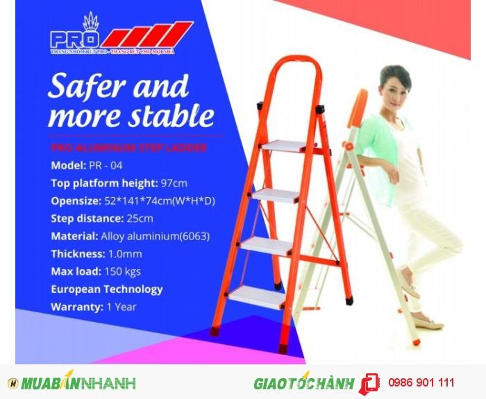 Thang nhôm Pro ra mắt sản phẩm thang nhôm tay vịn inox cao cấp1