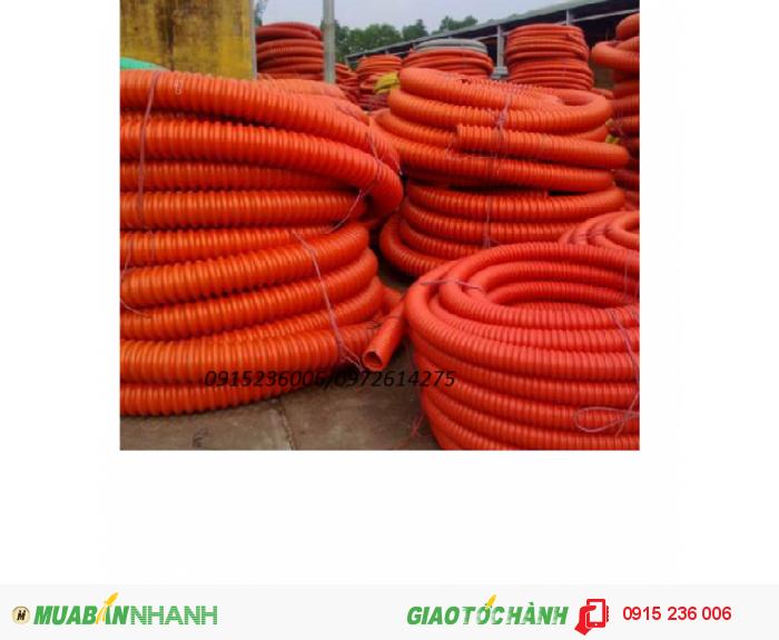 Phân phối ống nhựa gân xoắn HDPE luôn dây điện phi 90/700