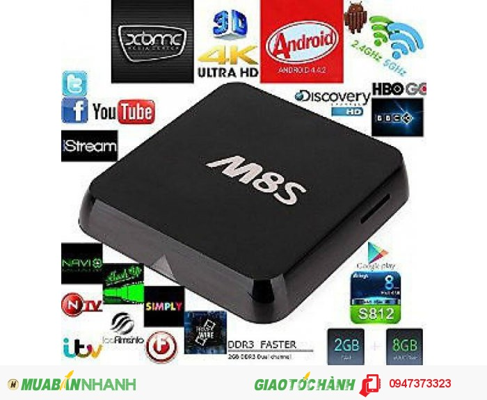 Android Tv Box M8S Ultra Hd 4K0