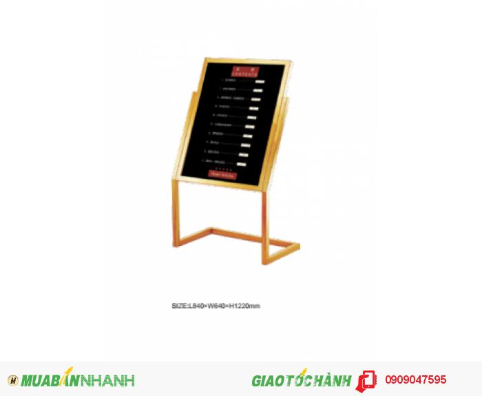 Bảng quảng cáo Mã hàng: BQC-7P0H1A5-TA Size: L840 x W640 x H1220 mm