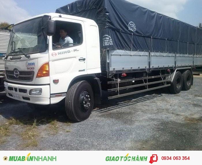 Hino FL 16 tấn 3 Chân Thùng Mui bạt trả góp lãi suất thấp Giao Xe Toàn Quốc