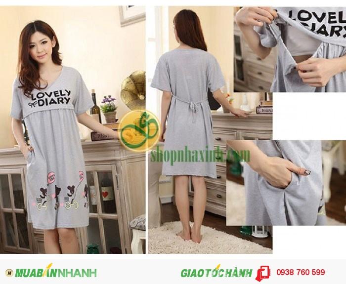 Váy Bầu Sau Sinh Cho Con Bú NX912-13