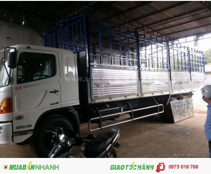 Xe tải Hino 3 chân FL8JTSA thùng mui bạt 16 Tâns