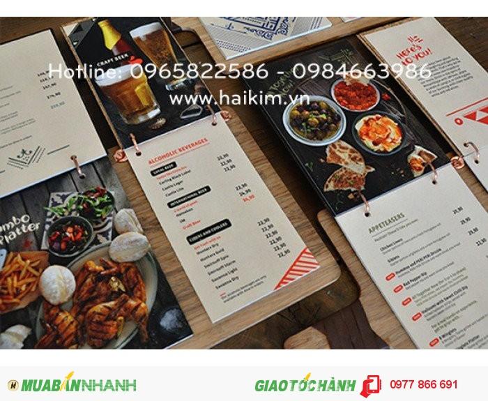 Thiết kế menu, menu nhà hàng, menu quán cafe, in menu giá rẻ, in menu lấy ngay