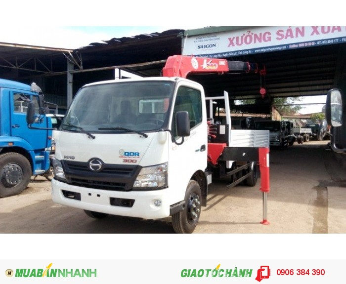 Bán Xe tải HINO XZU720 4,5T có gắn cẩu tại Miền nam,giá cạnh tranh 1