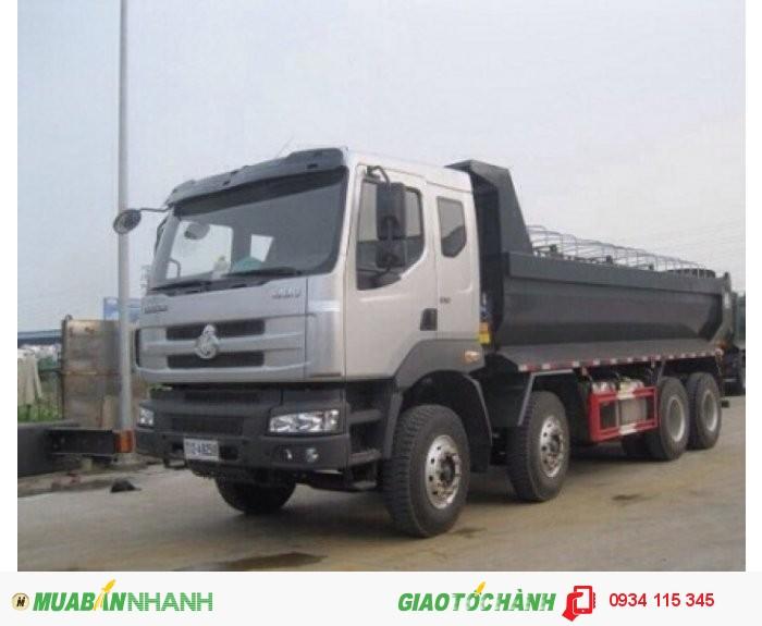 Bán xe ben chengLong 4 chân/ Mua xe ben Chenglong hải âu 17.5 tấn( 18 tấn) 310Hp( thùng 15 khối)