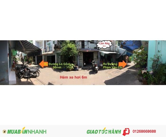 Bán nhà HXH {6mét} Phạm Văn Chí-P7-Q6 (42m2) ngay Đường Lò Gốm!