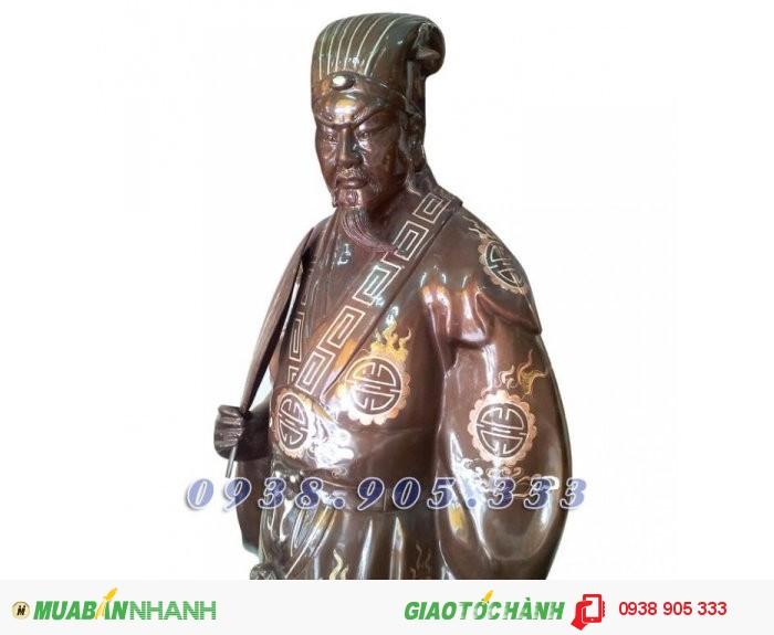 Tượng đồng Khổng Minh Gia Cát Lượng, tượng đồng phong thủy 25cm0