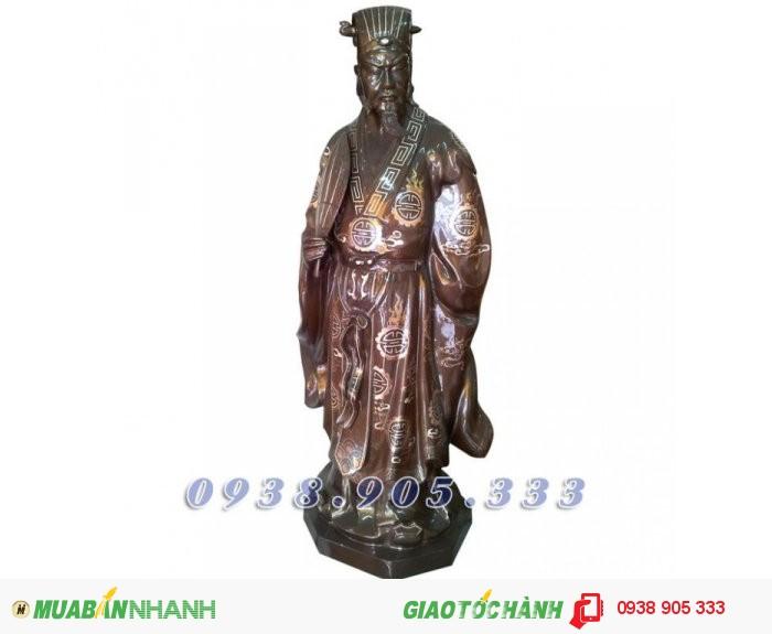 Tượng đồng Khổng Minh Gia Cát Lượng, tượng đồng phong thủy 25cm1