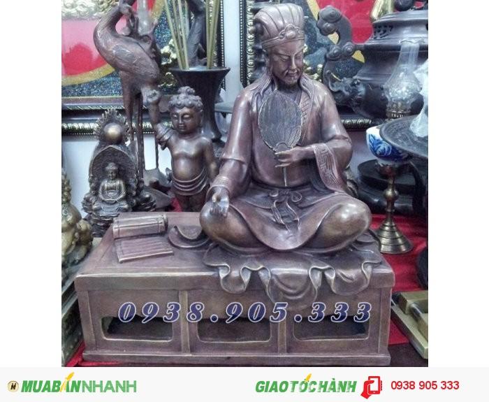 Tượng đồng Khổng Minh Gia Cát Lượng, tượng đồng phong thủy 25cm2