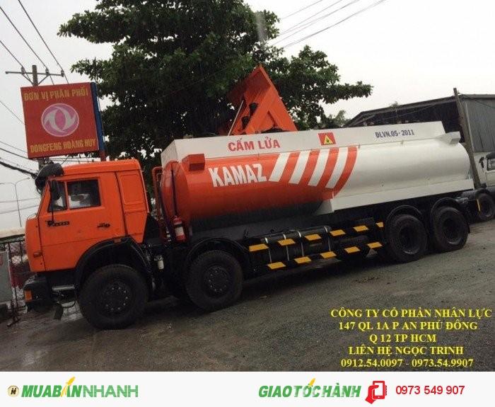 Xe chuyên dụng chở xăng dầu kamaz (8x4) 23 m3