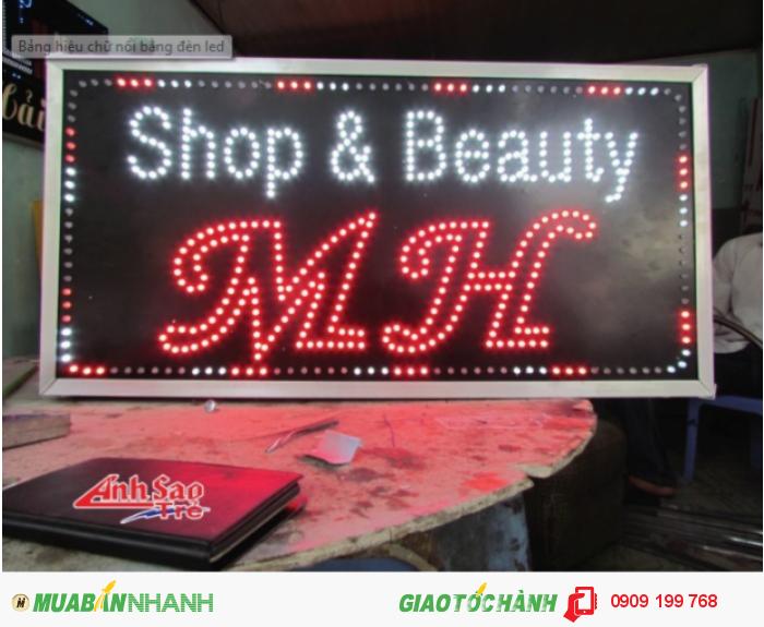 Ánh Sao trẻ nhận thiết kế và lắp đặt bảng hiệu đèn led cho Shop & Beauty MH, kích thước và thiết kế dựa trên yêu cầu của khách hàng.