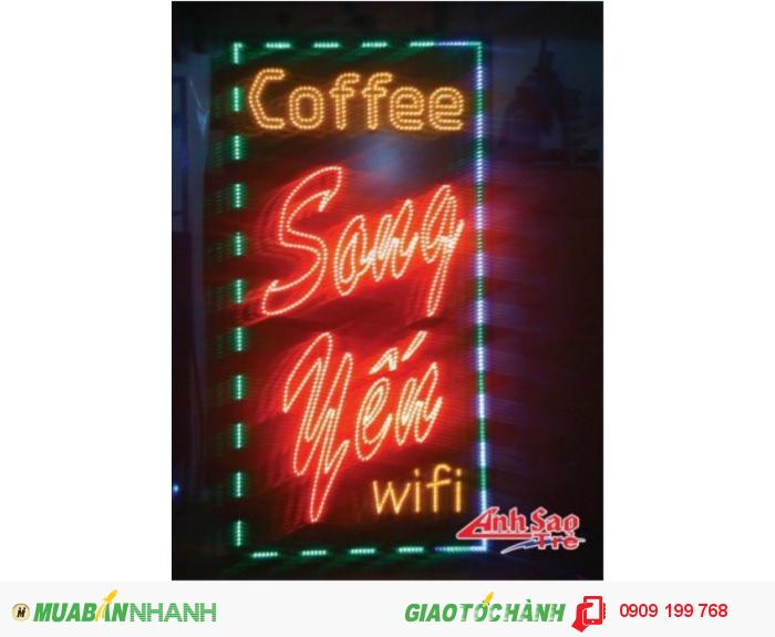 Bảng hiệu quảng cáo Đèn Led - Công ty Ánh Sao Trẻ chuyên gia công làm bảng hiệu quảng cáo giá rẻ, bảng led vẫy, bảng led module chạy chữ, chữ nổi mica inox, hộp...