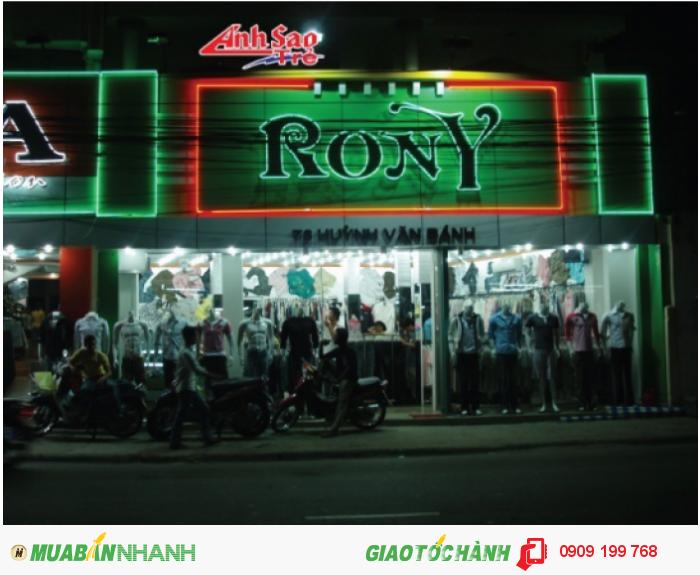 Ánh Sao Trẻ thiết kế hộp đèn quảng cáo alu cho shop thời trang RONY.