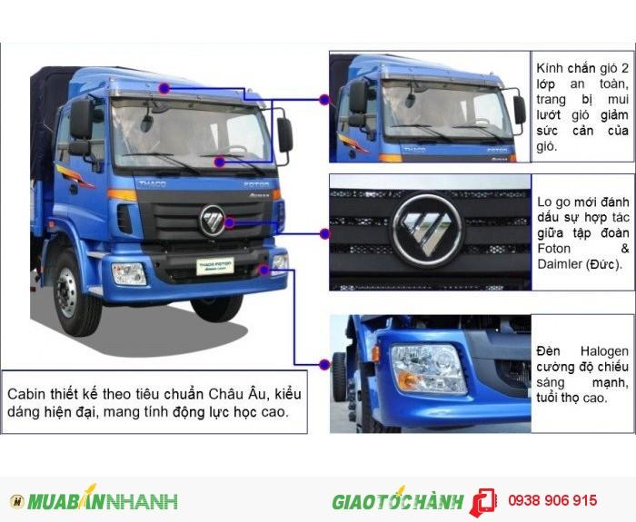Xe tải 3 chân15 tấn, xe 3 chân Thaco Auman C1500 230PS cầu nâng hạ, tải trọng 14,8 tấn thùng dài 7.8m, đời 2016
